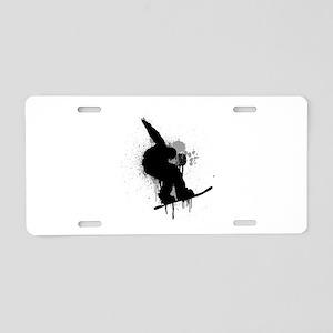 Snowboarder Aluminum License Plate