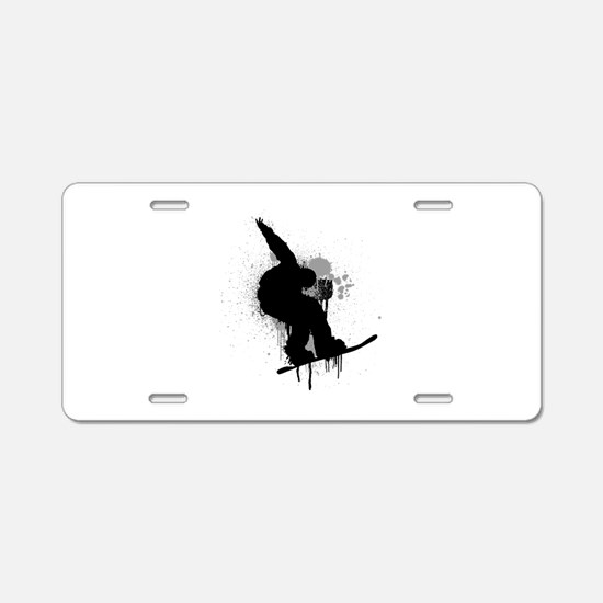 Snowboarder Aluminum License Plate