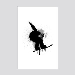 Snowboarder Mini Poster Print