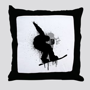 Snowboarder Throw Pillow