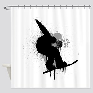Snowboarder Shower Curtain