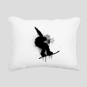 Snowboarder Rectangular Canvas Pillow