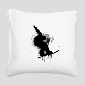 Snowboarder Square Canvas Pillow