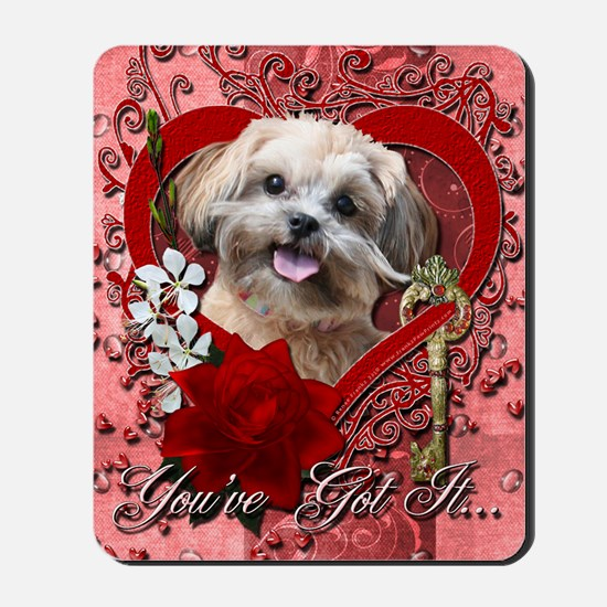 Valentine_Red_Rose_ShihPoo_Maggie Mousepad