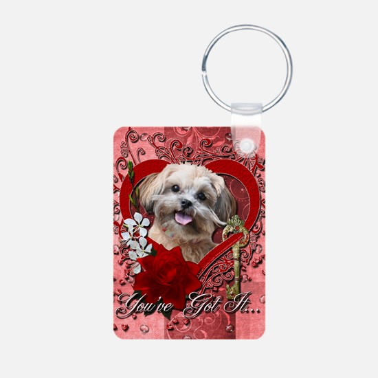 Valentine_Red_Rose_ShihPoo Keychains