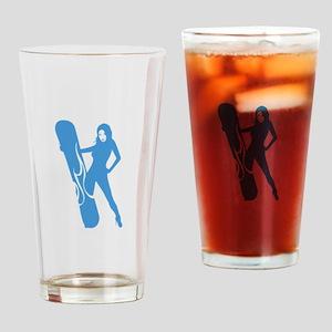 Snowboarding Drinking Glass