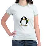 Yellow Rose Penguin Jr. Ringer T-Shirt