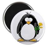 Yellow Rose Penguin Magnet