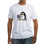 Scrapbook Penguin Fitted T-Shirt