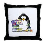Scrapbook Penguin Throw Pillow