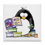 Scrapbook Penguin Tile Coaster