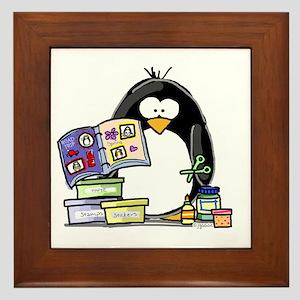 Scrapbook Penguin Framed Tile