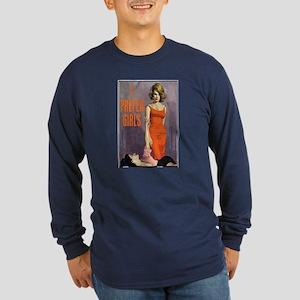 I PREFER GIRLS Long Sleeve Blue T-Shirt