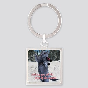 penny card 10 v2 Square Keychain