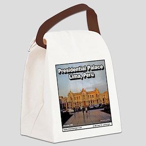 Y-PresidentialPal-Peru-Tile Canvas Lunch Bag