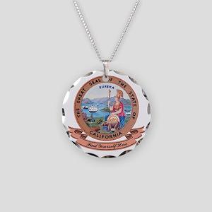 California Seal Necklace Circle Charm