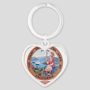 California Seal Heart Keychain