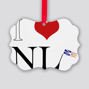 I Love NL with flag big Picture Ornament