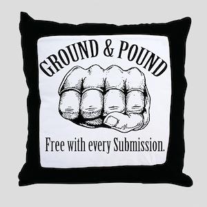 GroundPound_01 Throw Pillow