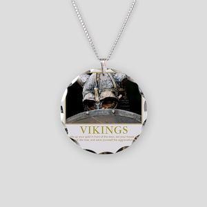 viking Necklace Circle Charm