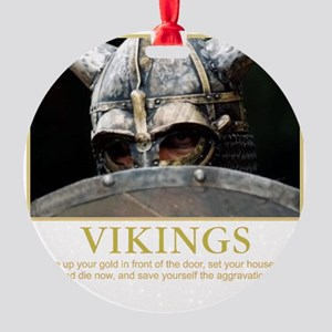 viking Round Ornament