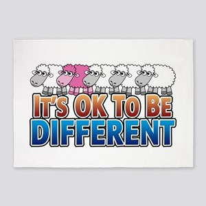 its-ok-to-beANIMALS_pinksheep 5'x7'Area Rug