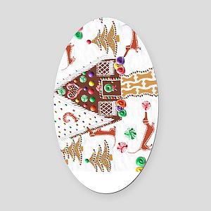 GingerbreadJournal Oval Car Magnet