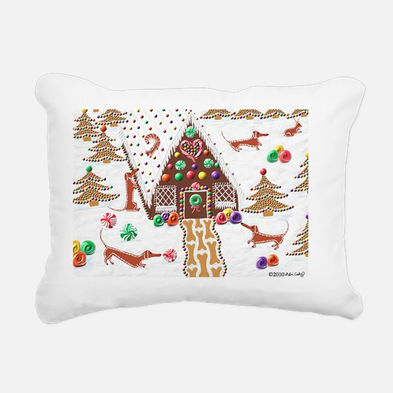 GingerbreadCard Rectangular Canvas Pillow