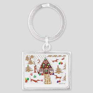 GingerbreadCard Landscape Keychain