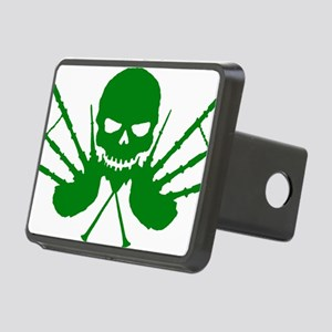 Floating Skull n Pipes Gre Rectangular Hitch Cover