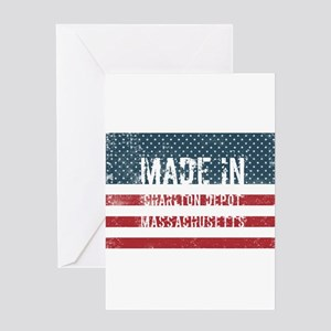Made in Charlton Depot, Massachuset Greeting Cards