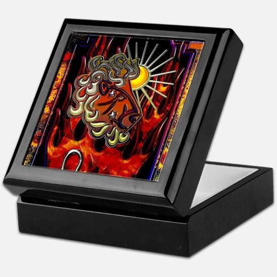 Leo Zodiac Sign iPad Design Keepsake Box