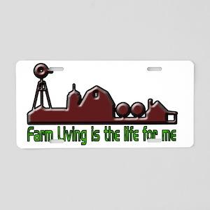 farmliving Aluminum License Plate