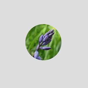 Purple Flower Sq Mini Button