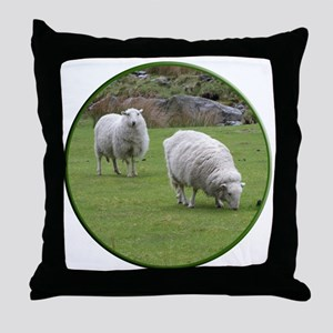 Sheep CirStrk Throw Pillow