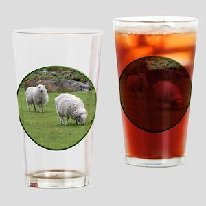 Sheep CirStrk Drinking Glass