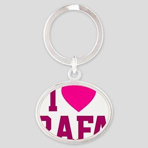 Rafa Blanket2 Oval Keychain