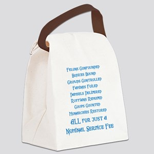 Service Fee Canvas Lunch Bag
