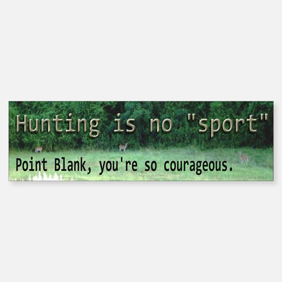 antihunting1.png Bumper Bumper Bumper Sticker