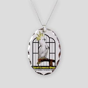 BirdLoversOnly LOGO Necklace Oval Charm