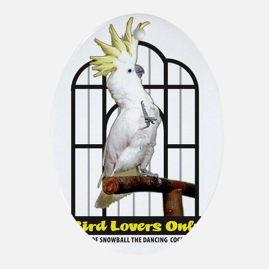 BirdLoversOnly LOGO Oval Ornament