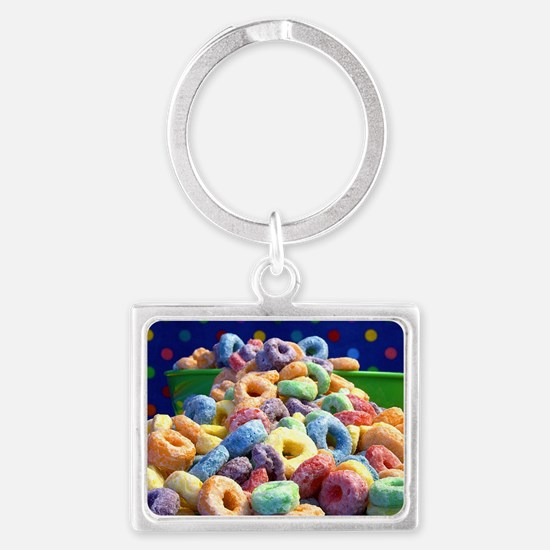 loop fruits Landscape Keychain