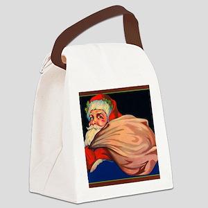 VintageSantaClaus Canvas Lunch Bag