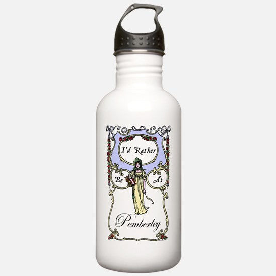 Rather Be At Pemberley Water Bottle
