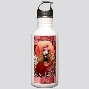 Valentine_Red_Rose_Poo Stainless Water Bottle 1.0L