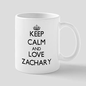 Keep Calm and Love Zachary Mugs
