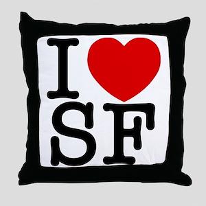 sf_v Throw Pillow