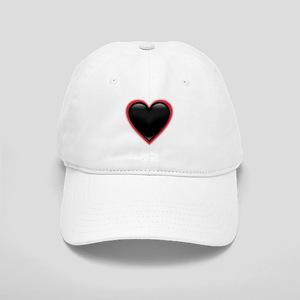 Black Glossy Heart Anti Valentine Cap
