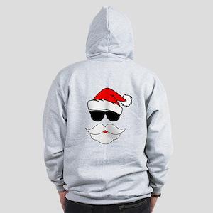 Cool Santa Claus Zip Hoodie