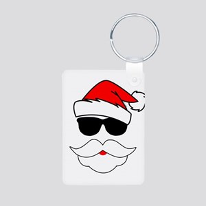 Cool Santa Claus Aluminum Photo Keychain